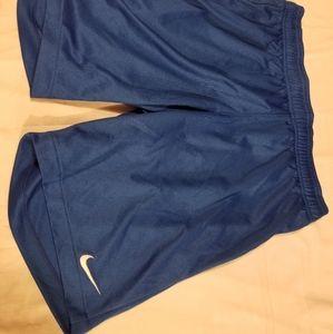 Nike womens football soccer shorts Blue medium new